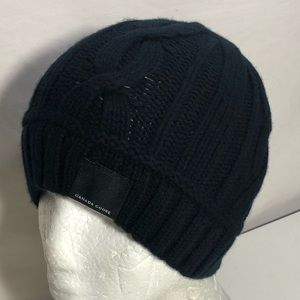 Canada Goose Cabled Merino Knit Wool Toque Beanie